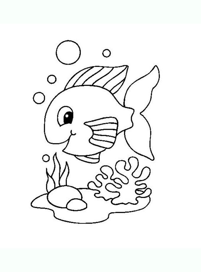Tranh tô màu con cá 09