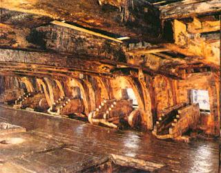 Interior del barco Vasa