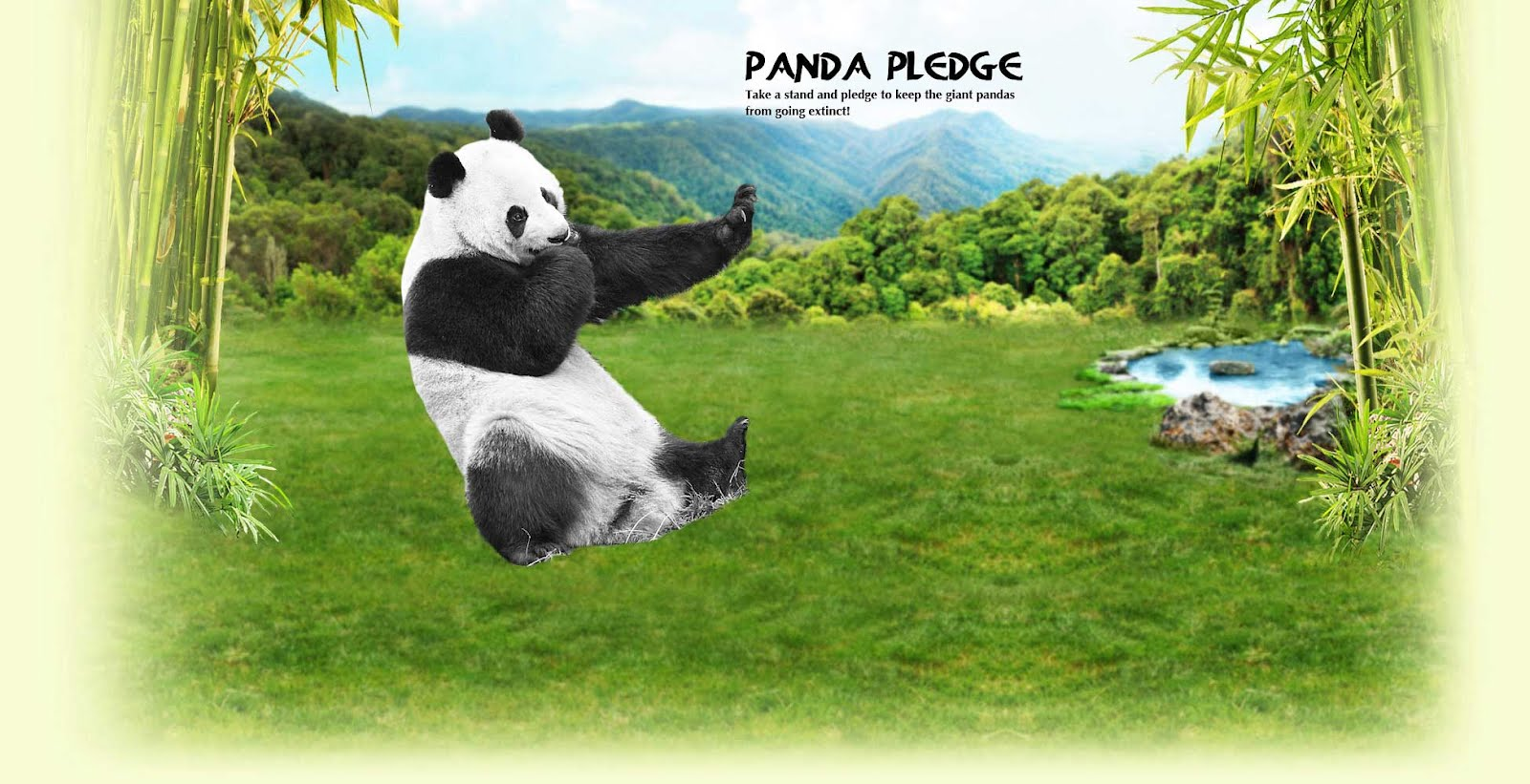 Panda PLEDGE - Take a stand and pledge to keep the giant pandas from going extinct!