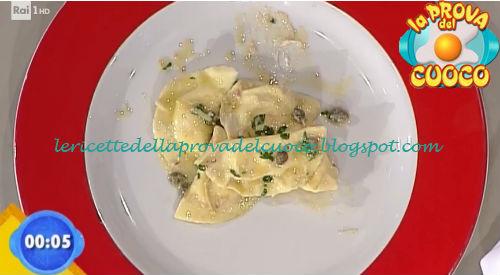 Ravioli con ricotta e zenzero in salsa di alici ricetta Parizzi da Prova del Cuoco