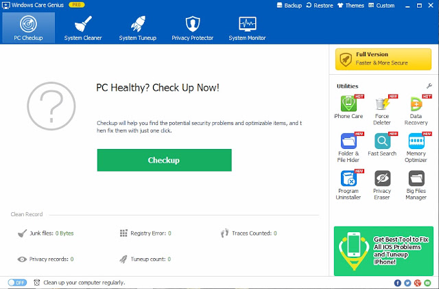 Windows Care Genius Giveaway