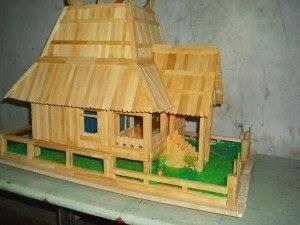 Gambar Rumah Adat Dari Stik Es Mainan Anak