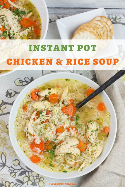Instant Pot Chicken & Rice Soup Recipe