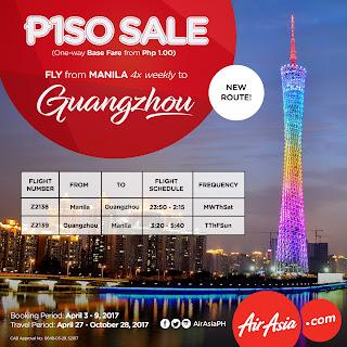 Fly from Manila to Guangzhou via Air Asia