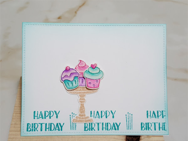 Simon Says Birthday Cupcake Card