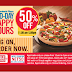 Dominos 50% OFF +15% Cashback