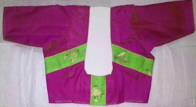 Tucks Blouse with Patch Work