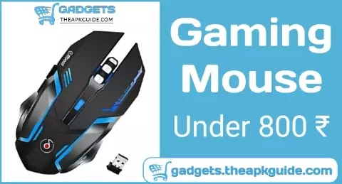 Offbeat RIPJAW 2.4Ghz Rechargeable Wireless Gaming Mouse, Silent Click Buttons Mouse - 7D Buttons, DPI : 1600,2400,3200, Mice for PC/Laptop/Smart TV/Mac(Light Weight)