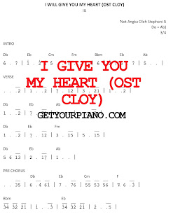not piano i give you my heart