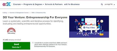 DO Your Venture: Entrepreneurship For Everyone Course For Free