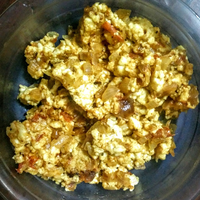 Paneer bhurjee dry recipe