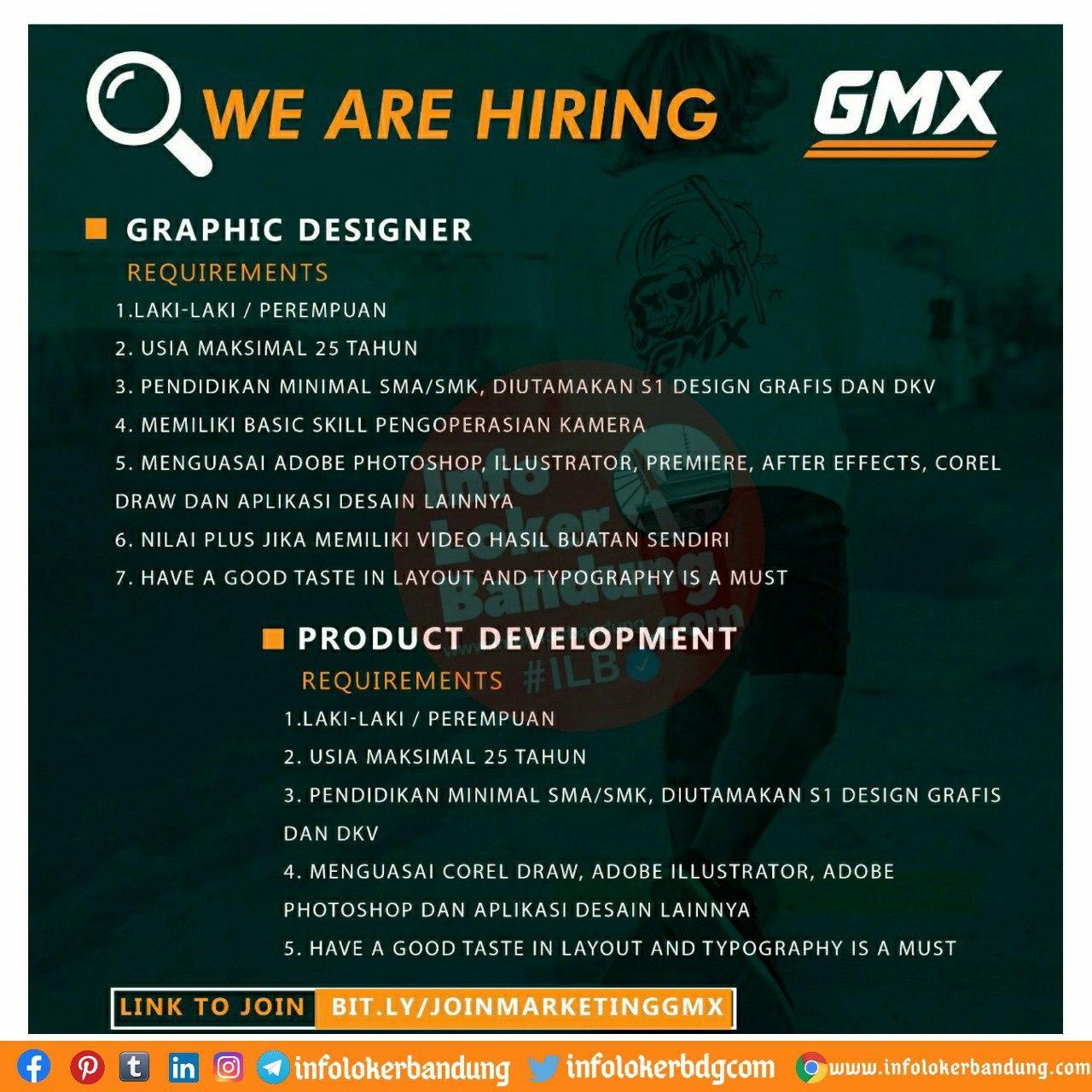 Lowongan Kerja GMX Bandung September 2020
