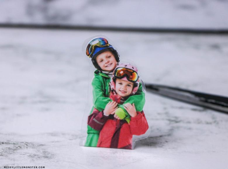 DIY picture snow globe