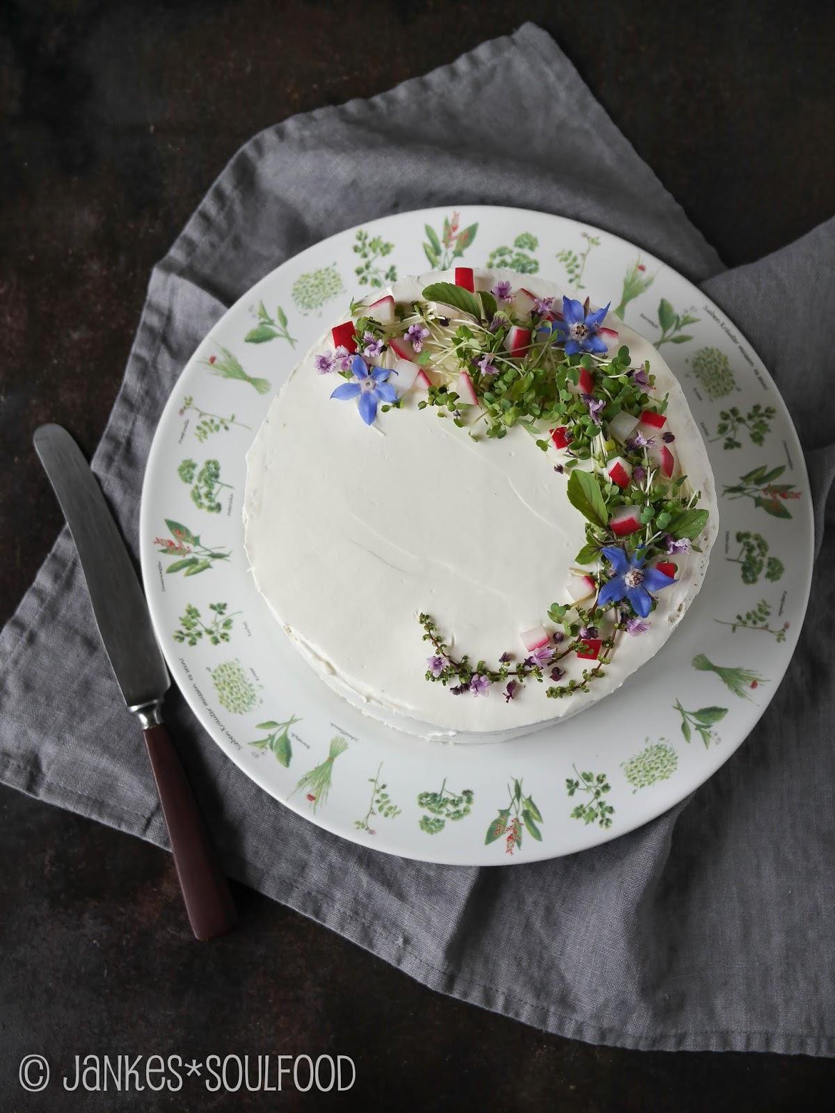 Herzhafte Grüne-Soße-Torte
