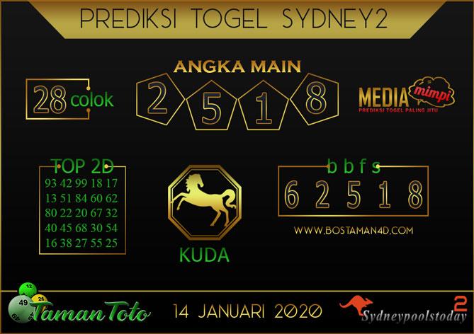 Prediksi Togel SYDNEY 2 TAMAN TOTO 14 JANUARI 2020