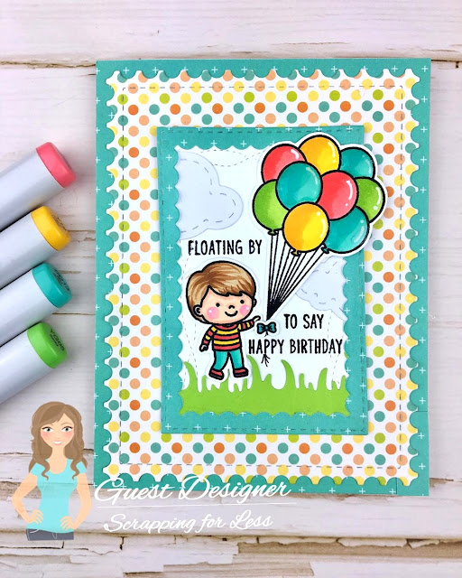 Sunny Studio Stamps: Spring Showers Floating By Customer Card by Meghan Kennihan