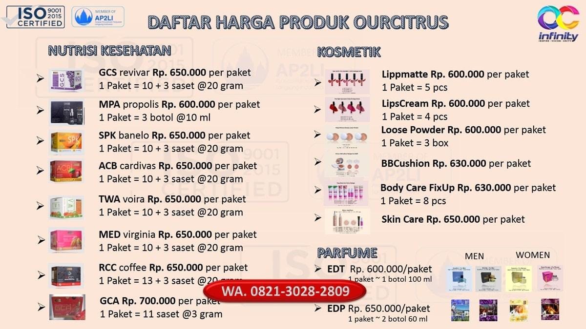 harga produk ourcitrus