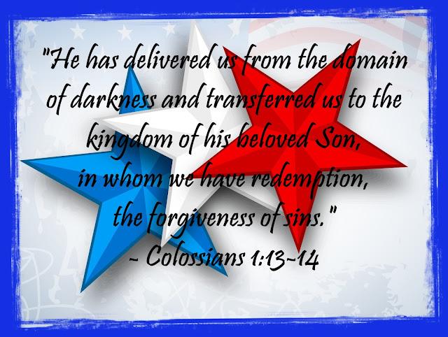 Colossians 1:13-14 (C) Allen Pearson Photography