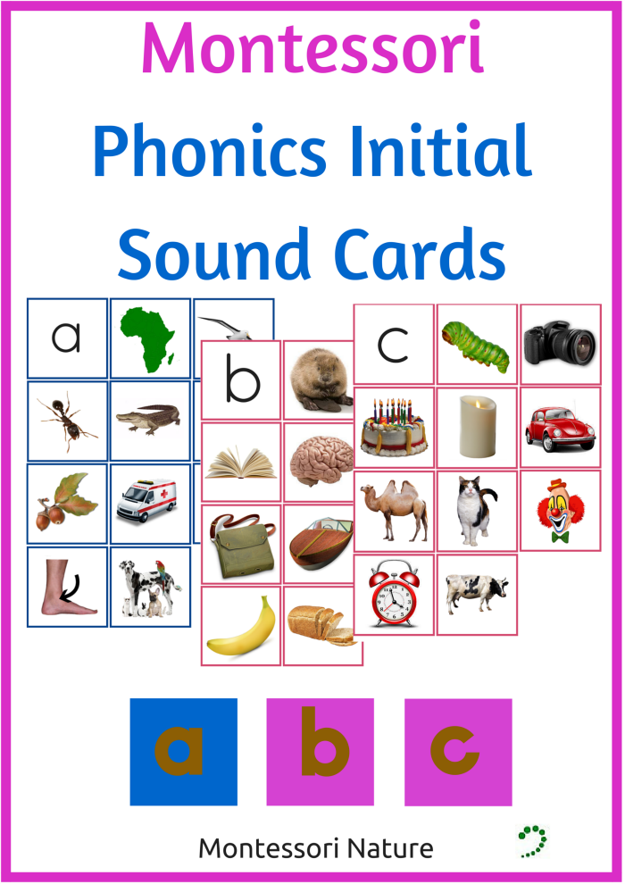 Do you want to support children to read and write? Montessori Phonics Initial Sound Cards Montessori Nature