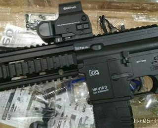 Review Mainan WGG HK416D (Water Gel Gun)
