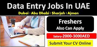 Data Entry Operator Jobs Recruitmet Dubai 2021