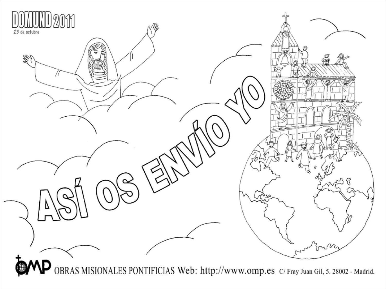 Las Misiones Y Los Niños Dibujos Para Colorear De Niños: Educar Con Jesús: Domund 2011 Colorear