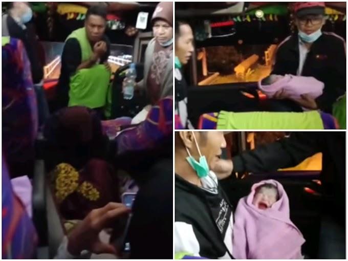 Wanita Ini 'Melahirkan Bayi Laki-laki' Di Atas Bis Malam Saat Perjalanan Menuju Bima