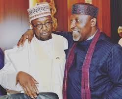 NIGER STATE GOVERNOR AND CHAIRMAN NORTH CENTRAL GOVERNORS FORUM ABUBAKAR SANI BELLO FELICITATES WITH ROCHAS OKOROCHA @ 58