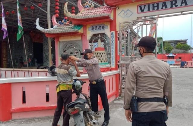 Polsek Panipahan Gelar Mobil Ops Yustisi Terapkan Prokes
