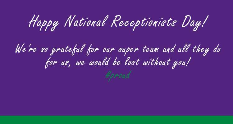 National Receptionists Day Wishes Beautiful Image
