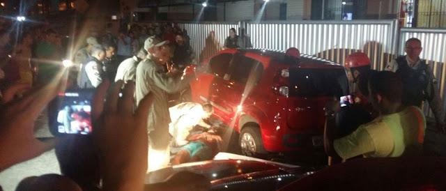 Na Paraiba mulher reage a assalto e atropela dois criminosos