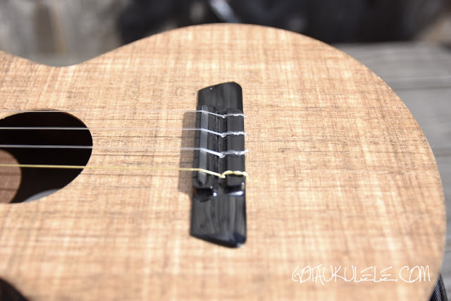 Blackbird Farallon Tenor Ukulele bridge