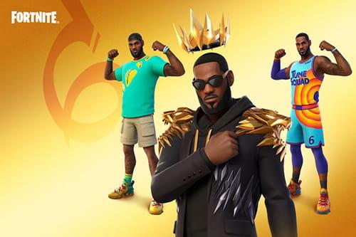 Quais são as novas skins de LeBron James no Fortnite