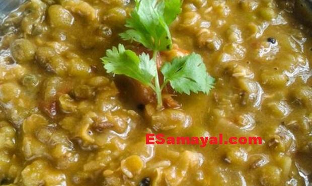 முளைகட்டிய காராமணி கிரேவி செய்வது | Karamani Gravy Recipe !