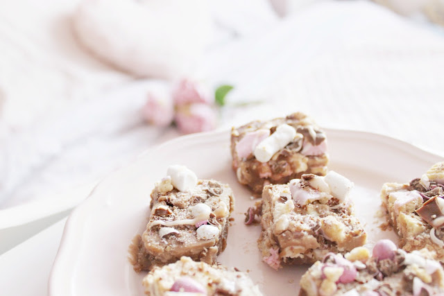 Pink Easter rocky road recipe