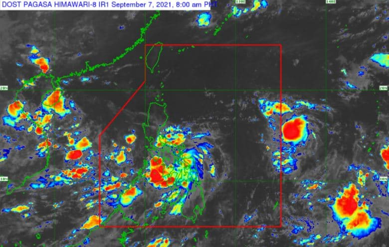 Satellite image of Typhoon 'Jolina' as of 8:00 am, September 7, 2021