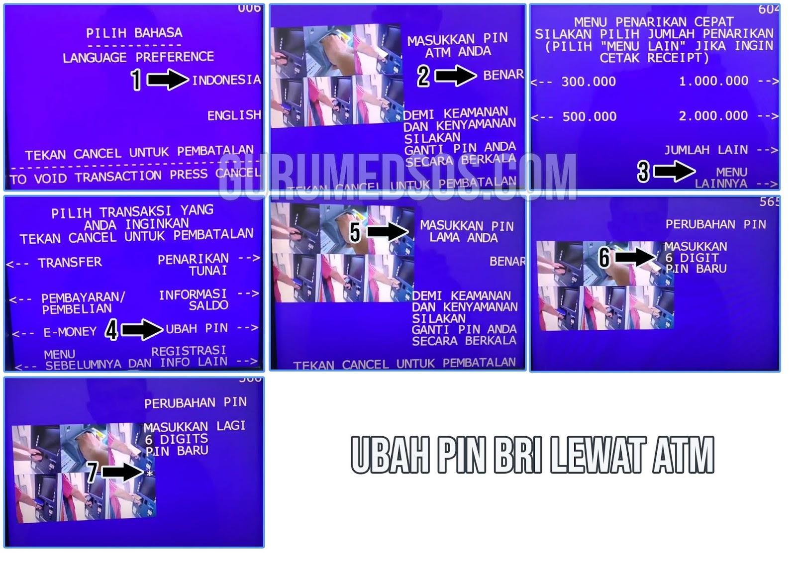 Cara Mengganti PIN ATM BRI di Mesin ATM