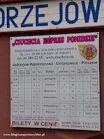Rozkład jazdy Jędrzejowskiej kolei Dojazdowej