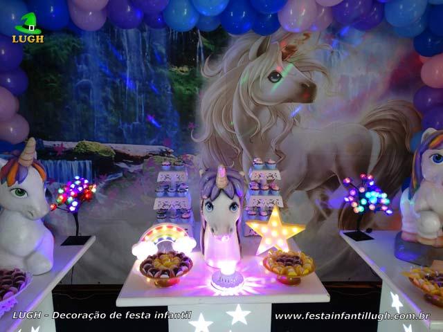 Decoração festa de aniversário tema Unicórnio