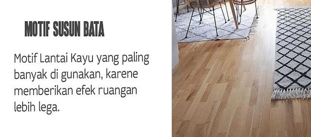 Motif lantai kayu susun bata
