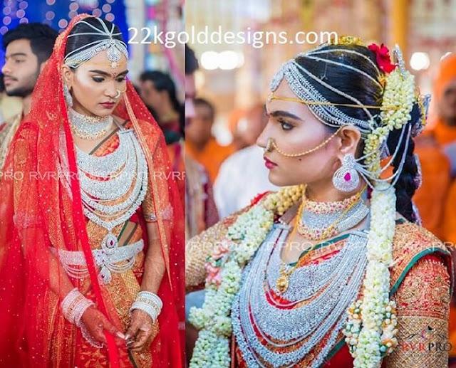 Gali Janardhan Reddy Daughter Brahmani Reddy Wedding Jewellery