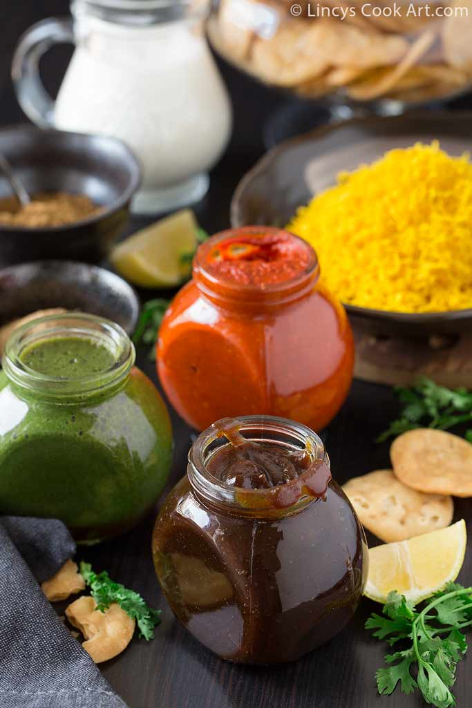 Red chili garlic chutney recipe for chaat