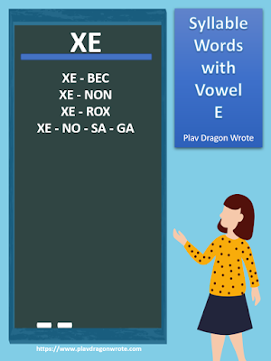 Syllable Words with the Big Vowel Letter E - Effective Reading Guide for Kids