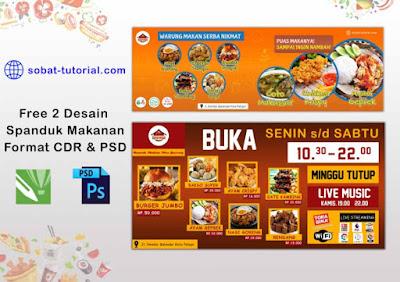 Gratis Spanduk Banner Makanan Siap Edit Format Cdr Dan Psd Sobat Tutorial