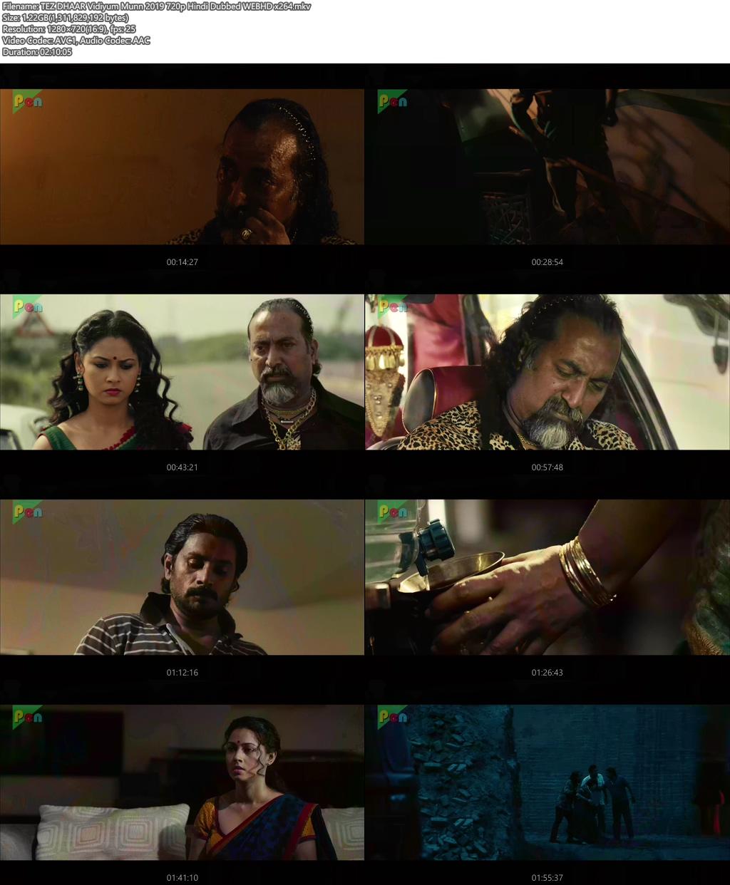 TEZ DHAAR Vidiyum Munn 2019 720p Hindi Dubbed WEBHD x264   480p 300MB   100MB HEVC Screenshot