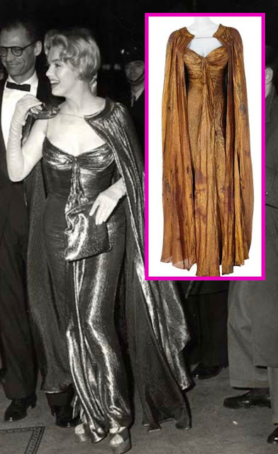 Marilyn Monroe encontro com Elisabeth II roupa
