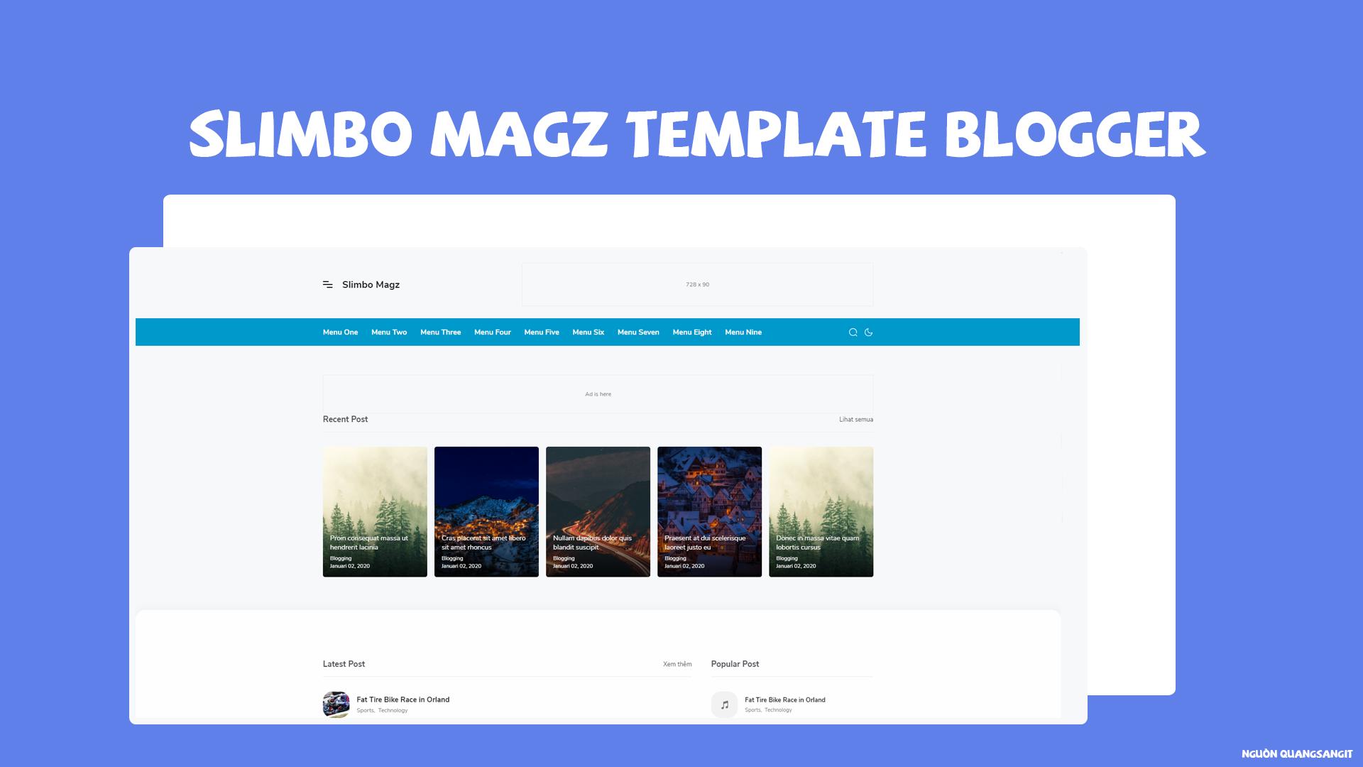 Slimbo Magz Template Blogger