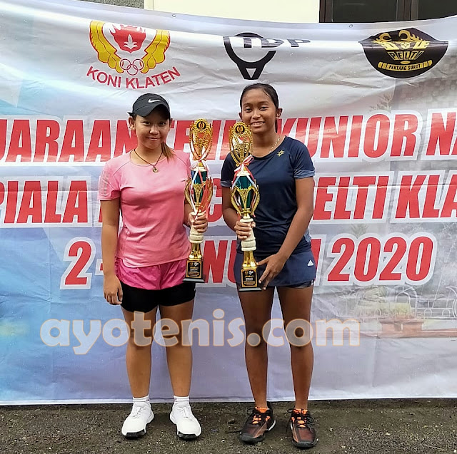 Kejurnas Tenis Yunior Piala Pengkab Pelti Klaten: Diah Ayu dan Grifith Sabet Gelar Juara