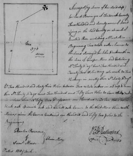 Jacob Persinger land 1753