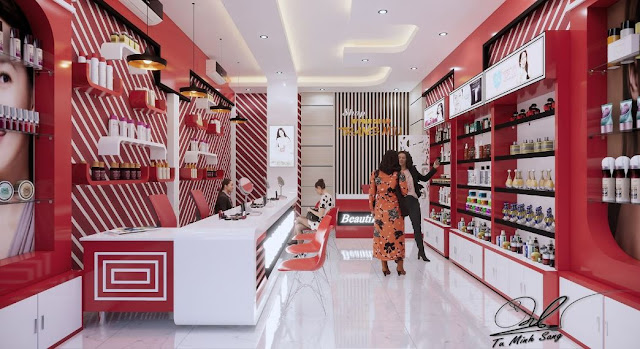 Cosmetic Shop Sketchup Interior Scene , 3d free , sketchup models , free 3d models , 3d model free download
